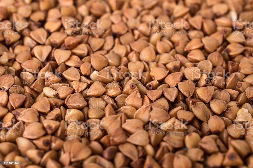 close up of buckwheat groats stock photo