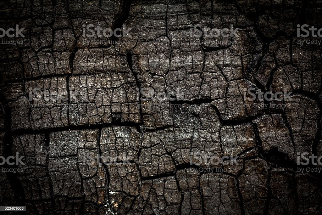 Close up of burn log stock photo