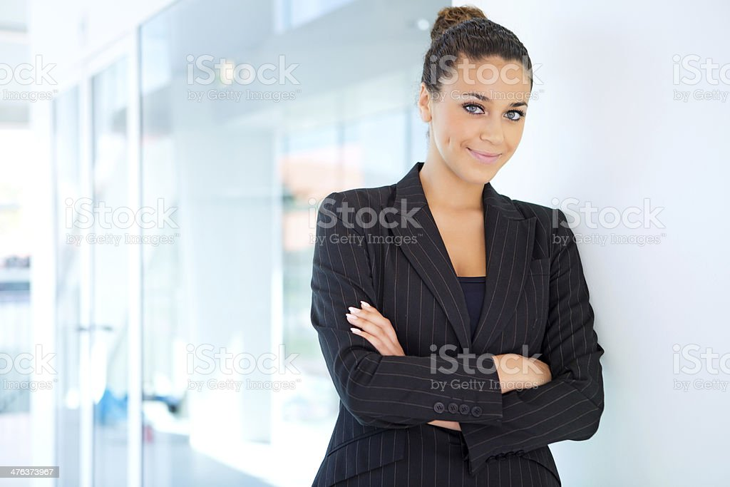close up of business woman posing indoors royalty-free stock photo