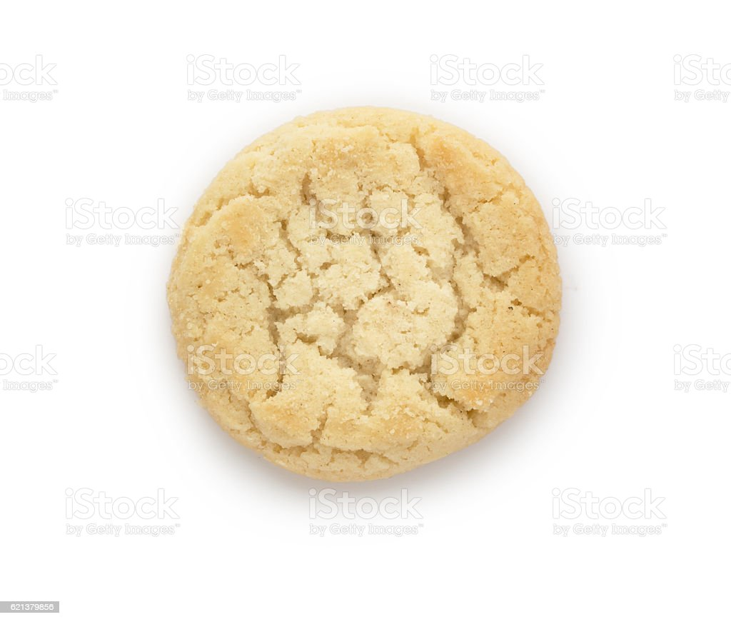 Close up of butter biscuits cookie on white background stock photo