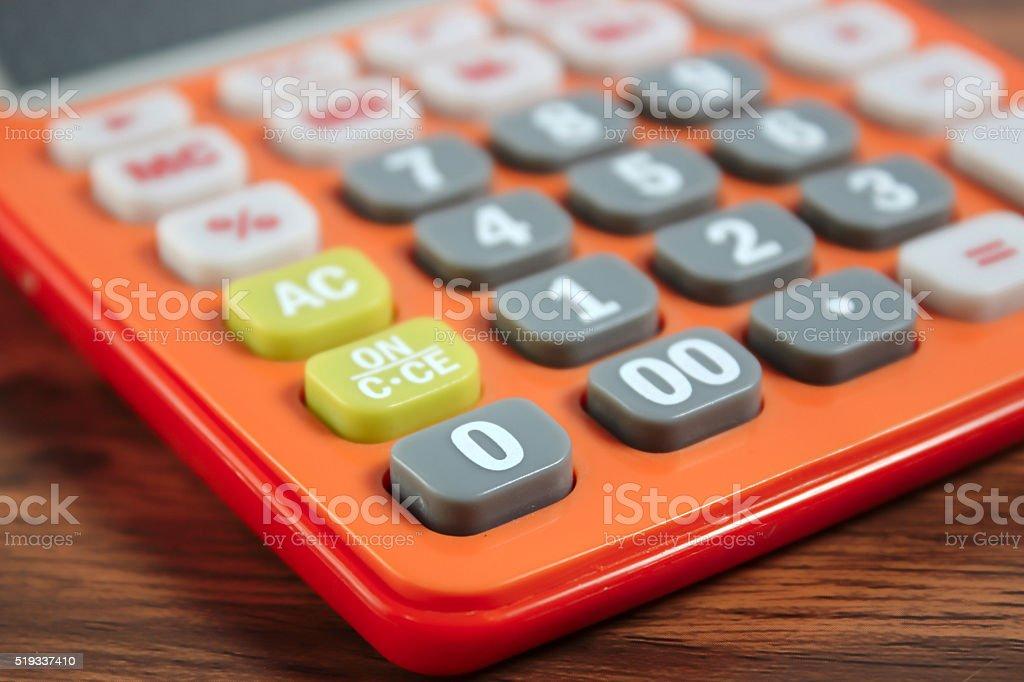 Close up of calculator stock photo