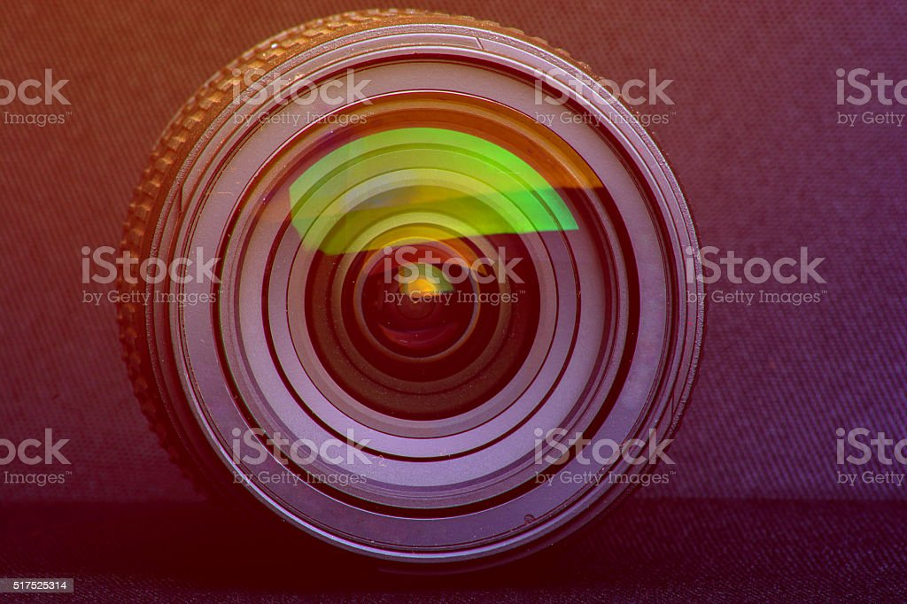 Close Up OF Camera Lens stock photo