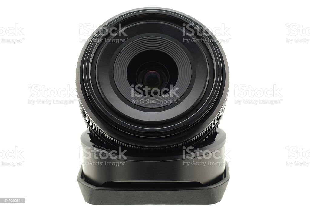 Close Up Of Camera Lens  (Selective focus) stock photo