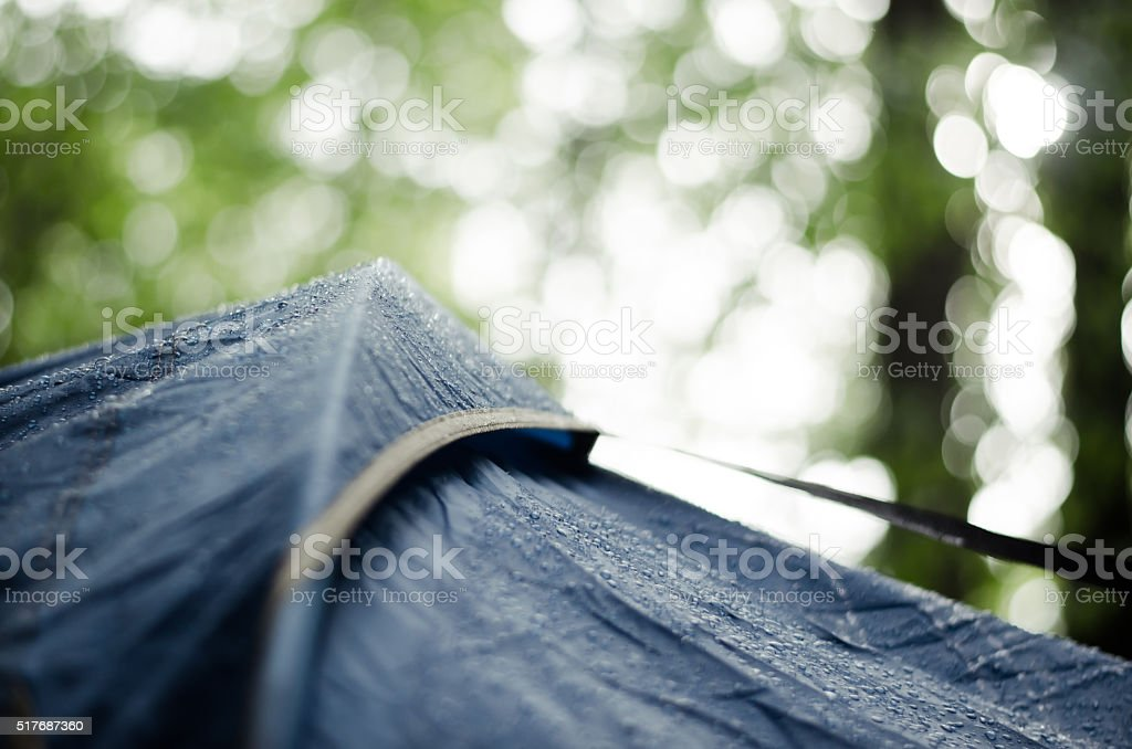 Close up of camping tent stock photo