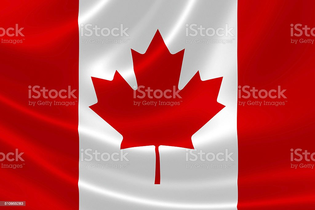 Close up of Canadian Flag stock photo