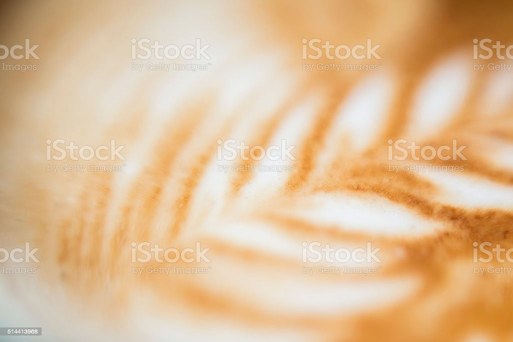 Close Up Of Cappuccino Art Background stock photo