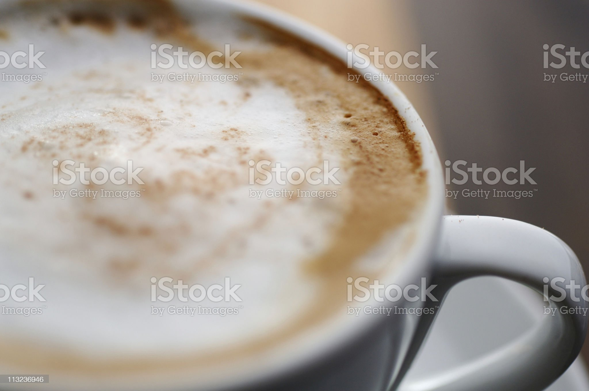Close up of cappuccino coffee royalty-free stock photo