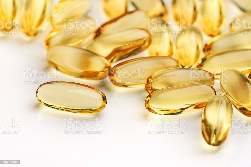Close up of capsules (see below for two other versions) royalty-free stock photo