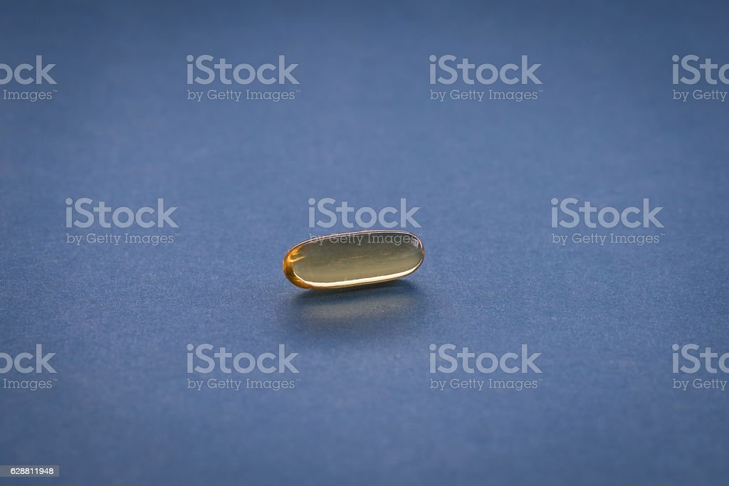 Close up of capsules (see below for two other versions) stock photo
