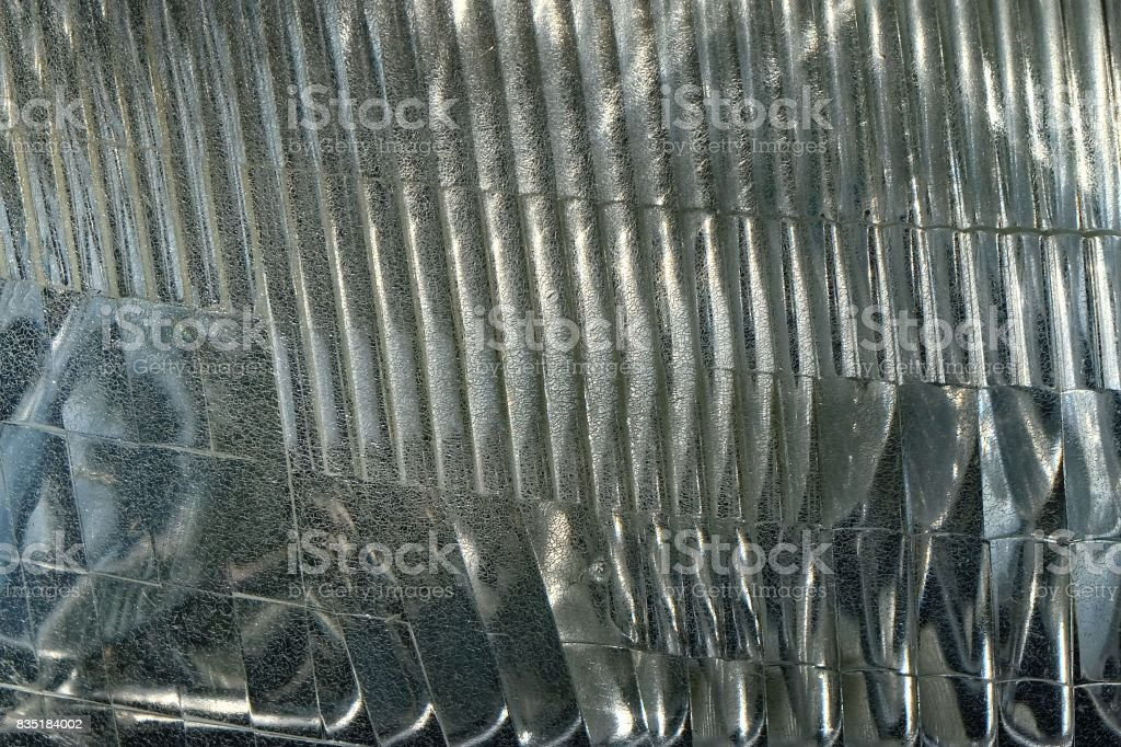 Close Up of Car Headlight Textured Background stock photo