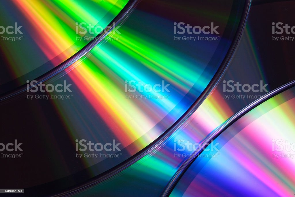 Close up of cd discs royalty-free stock photo