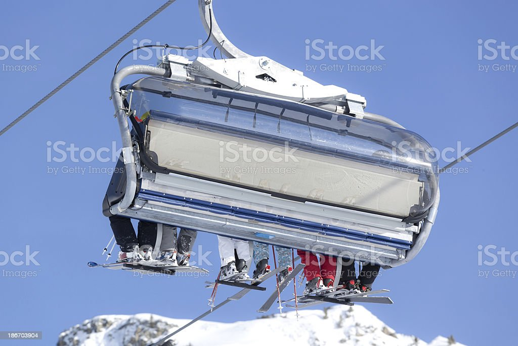 close up of chairlift royalty-free stock photo