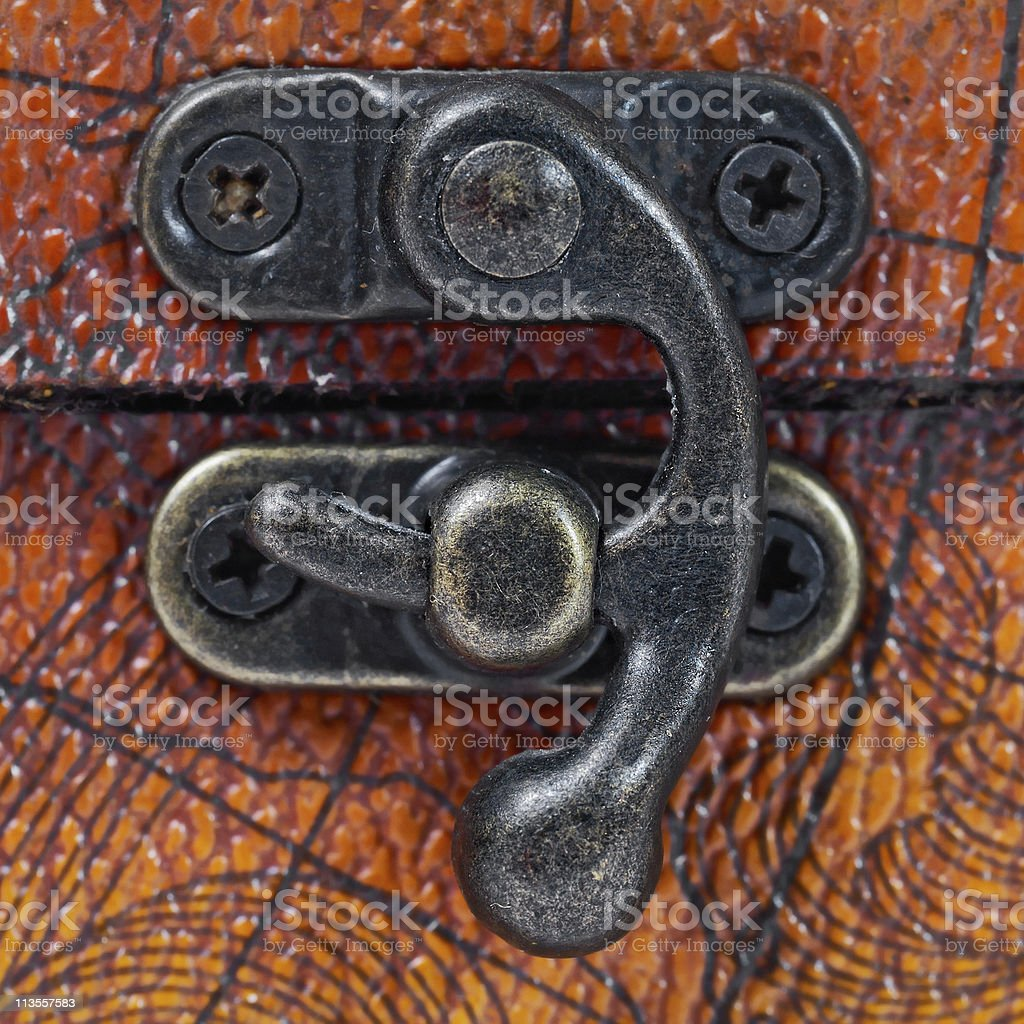 close up of chest lock royalty-free stock photo