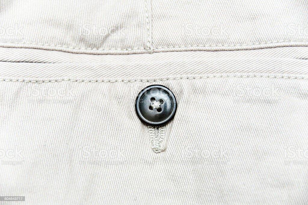 Close up of Chinos pocket stock photo