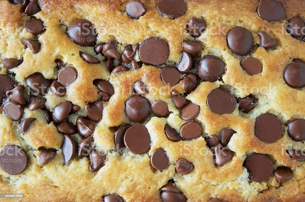 Close Up of Chocolate Chip Bread stock photo