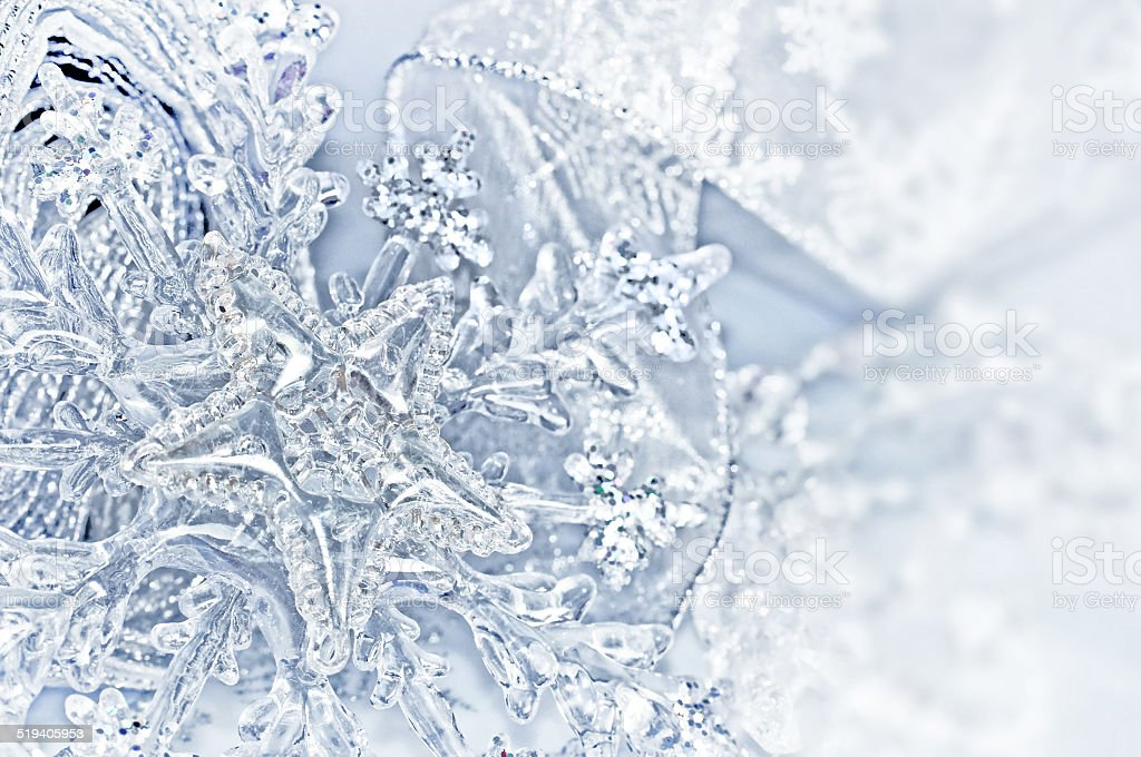 Close up of Christmas decorations stock photo