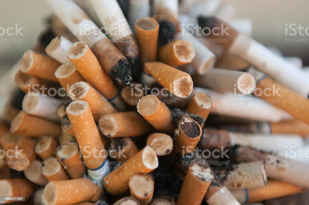 Close Up of Cigarettes stock photo