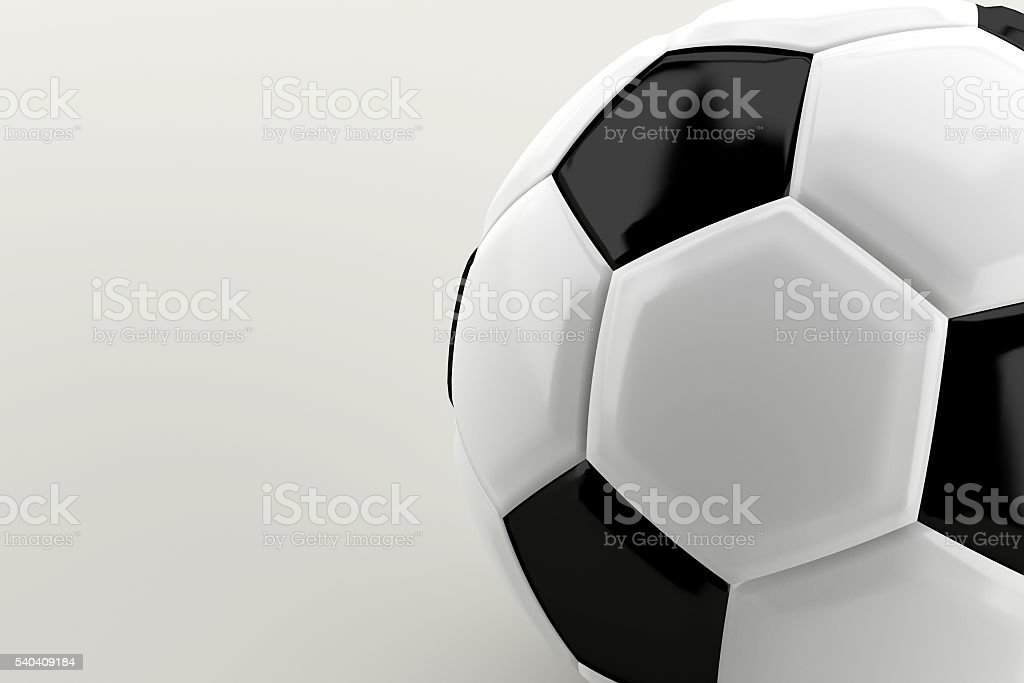 Close up of classic soccer ball or football stock photo