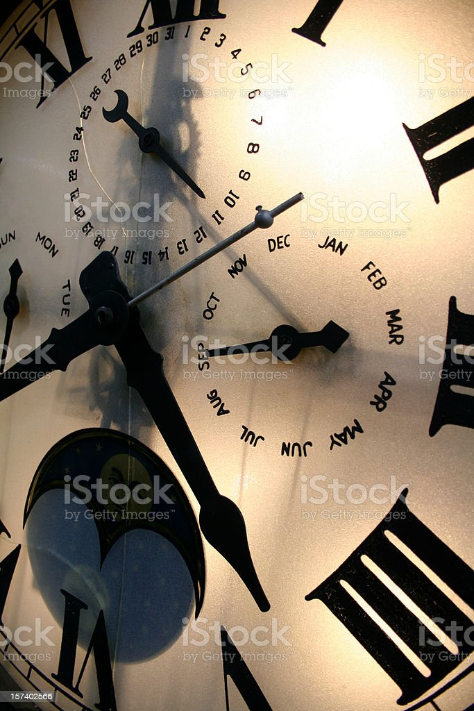 Close up of Clock Face royalty-free stock photo