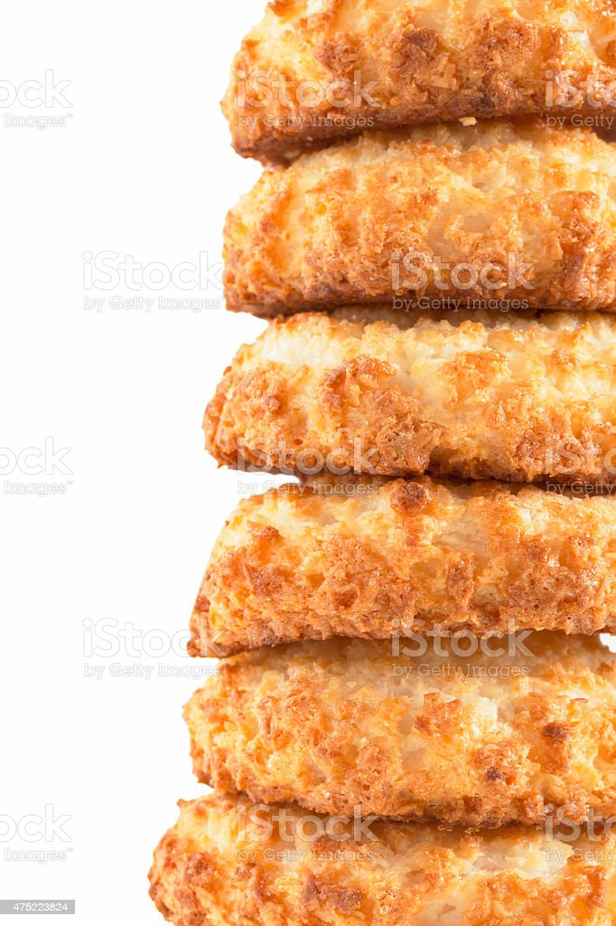 Close up of Coconut Macaroons stock photo