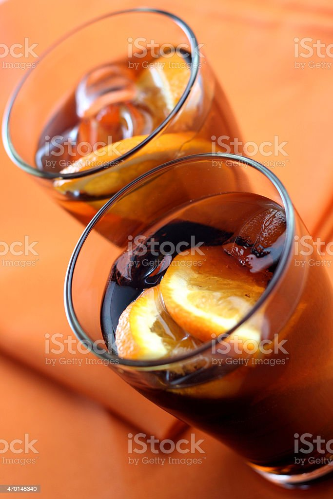 Close up of cola drink stock photo