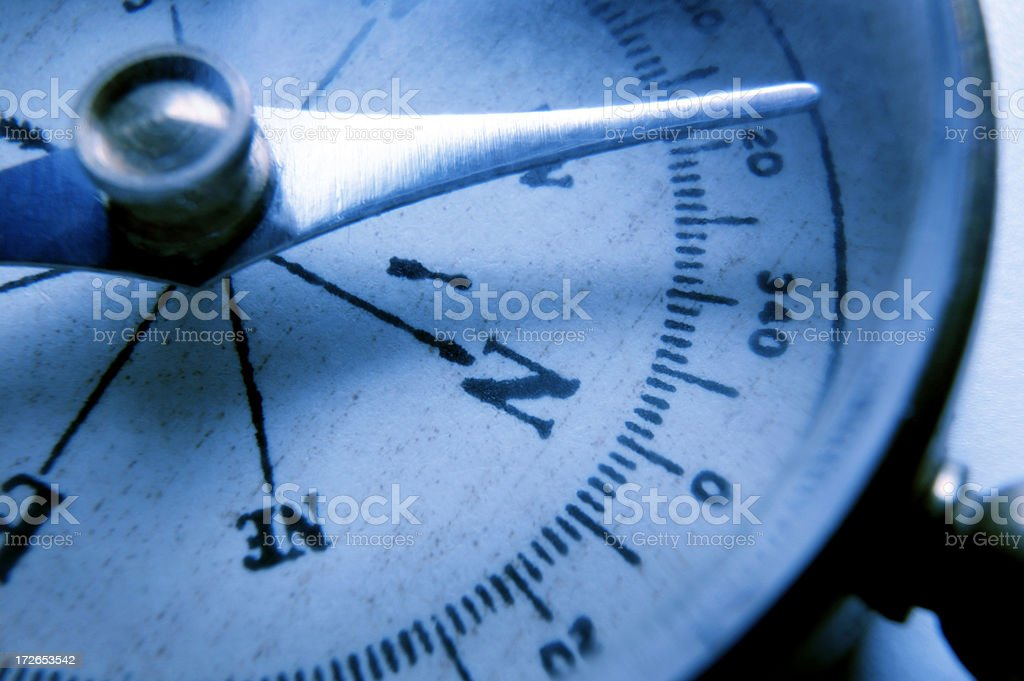 Close Up Of Compass face stock photo