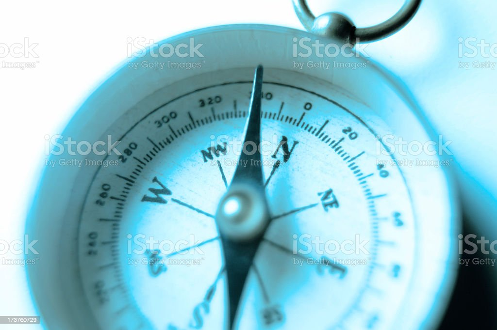Close Up Of Compass Face royalty-free stock photo