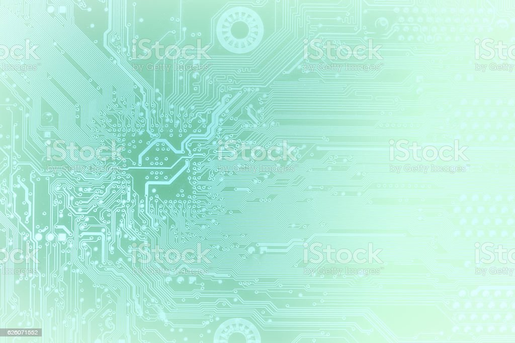 Close up of computer circuit board stock photo