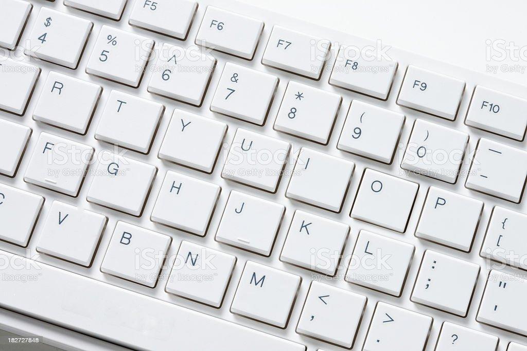 Close up of computer keyboard royalty-free stock photo