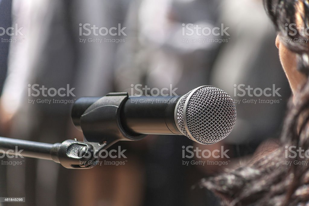 close up of conference meeting stock photo