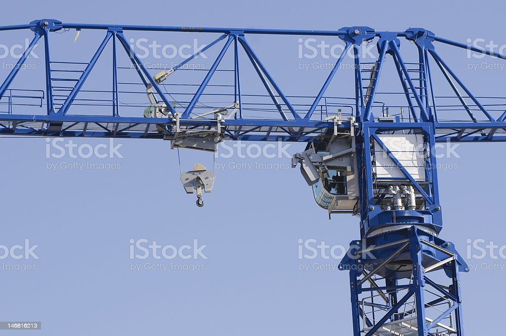 close up of construction tower crane royalty-free stock photo