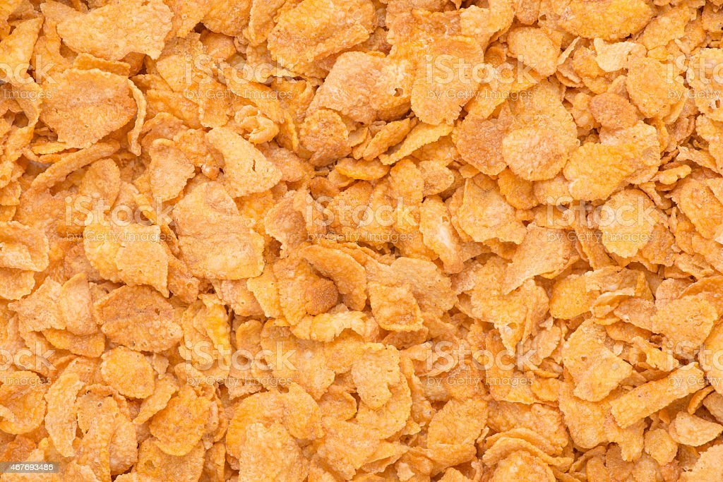 Close up of cornflakes stock photo