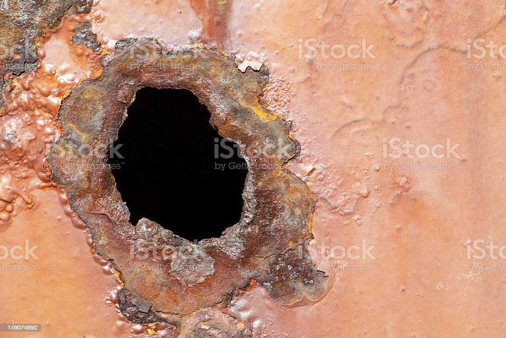 Close up of corroded metal royalty-free stock photo