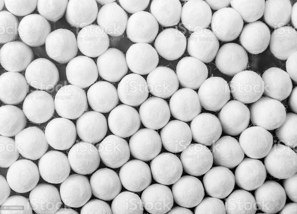 Close up of Cotton Buds stock photo