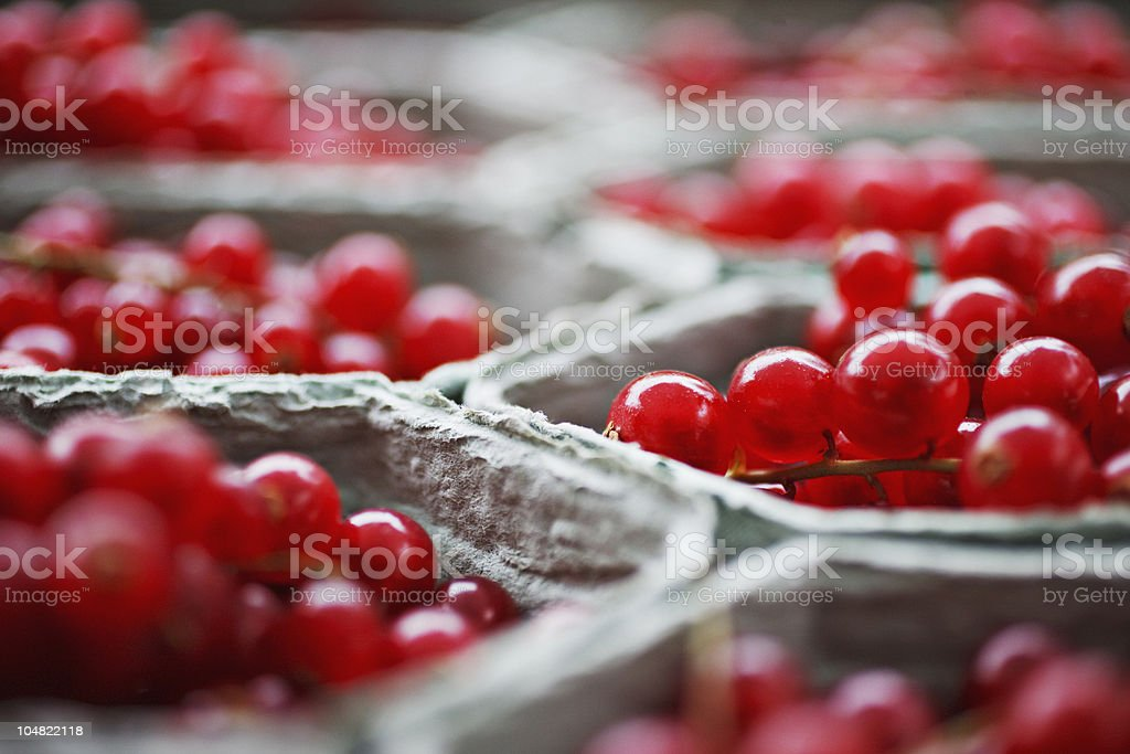 Close up of cranberry in baskets stock photo