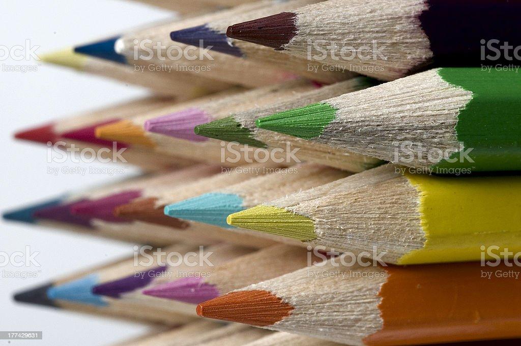 Close up of Crayons royalty-free stock photo