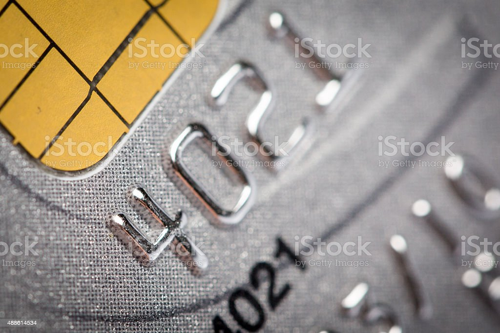Close up of credit card stock photo
