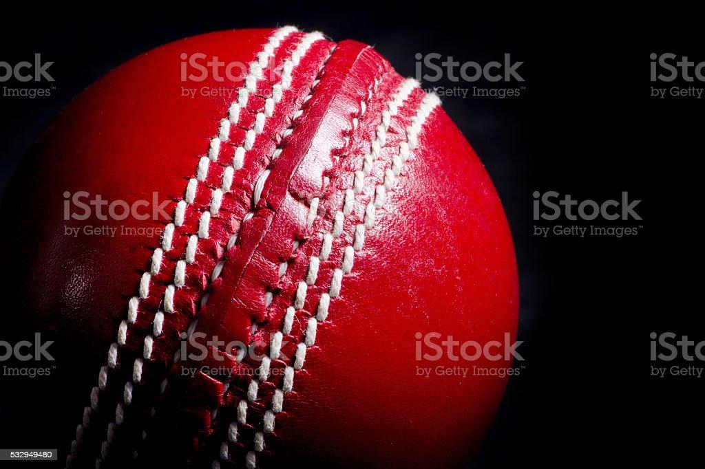 Close up of cricket ball stock photo