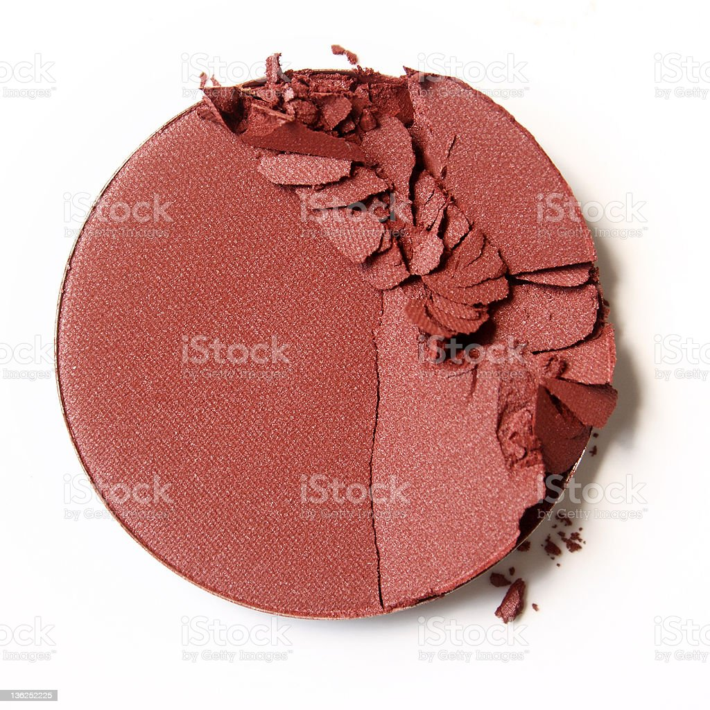 Close up of crushed cosmetic stock photo