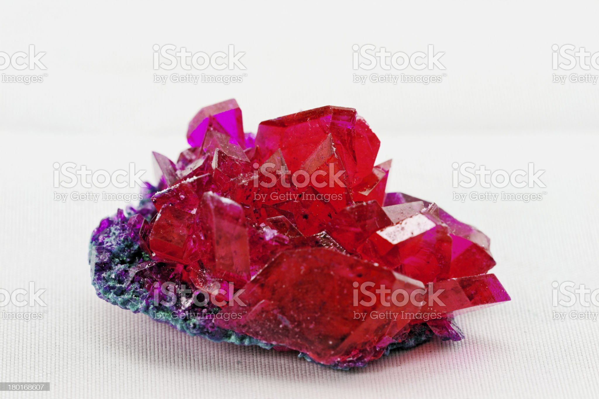 close up of crystals in ruby color royalty-free stock photo