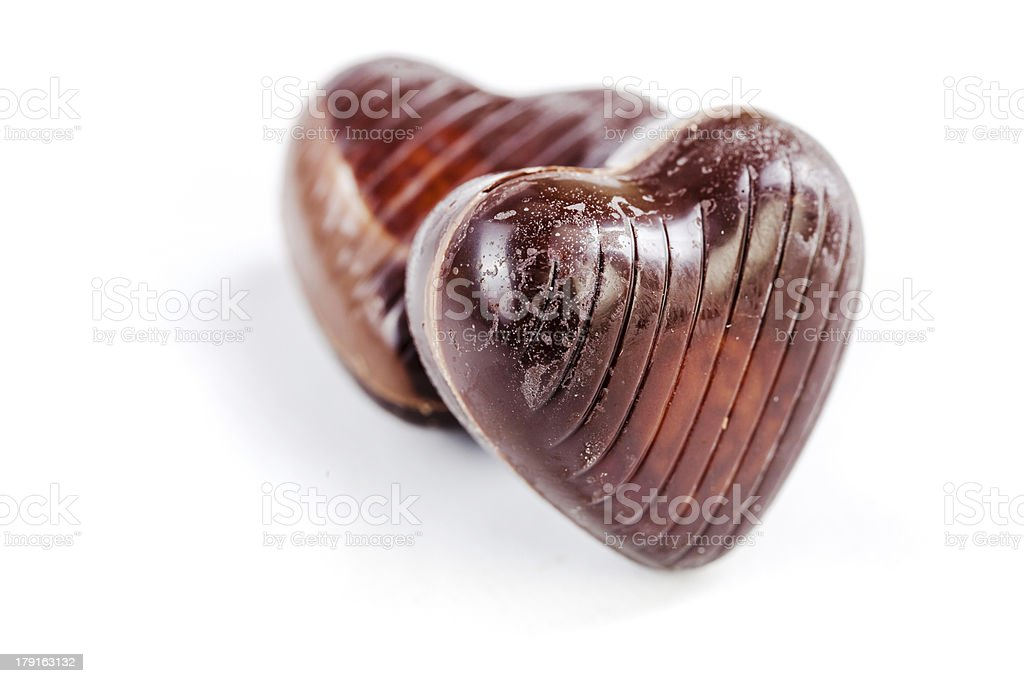 close up of delicious chocolate pralines royalty-free stock photo