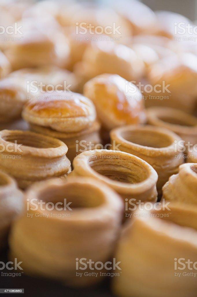Close up of delicious vol-au-vent stock photo