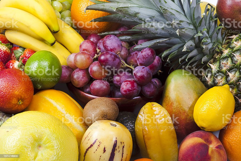 Close up of different fruits stock photo