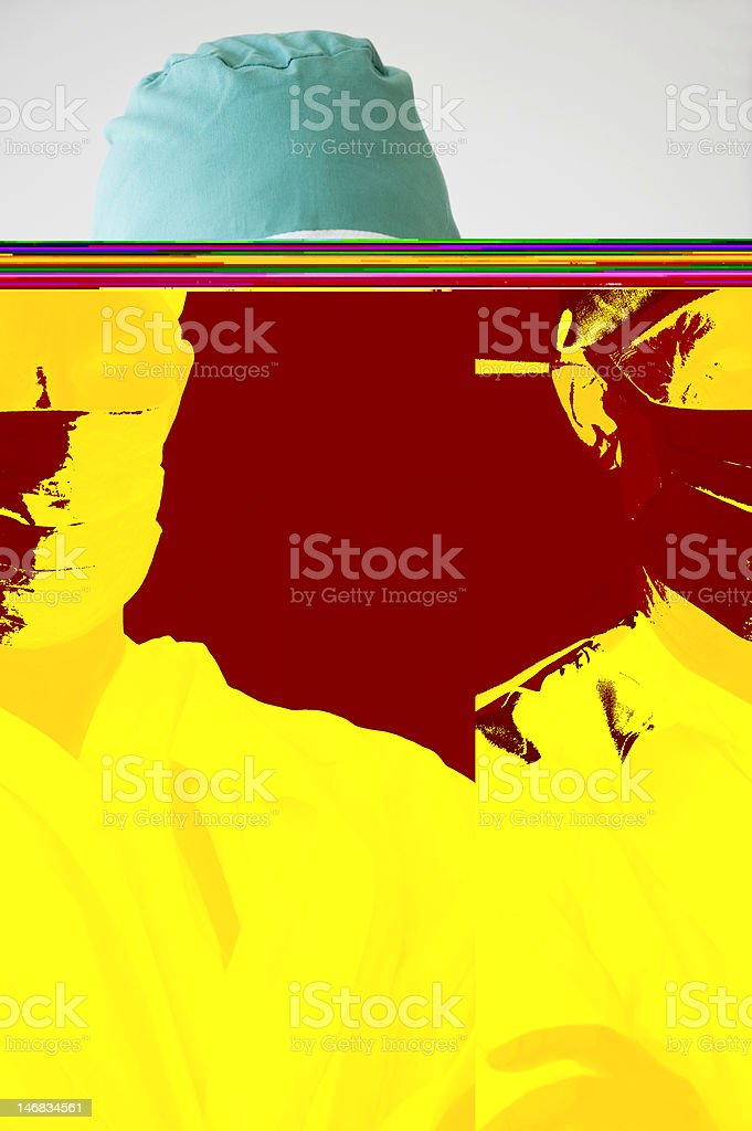 close up of doctor with medical mask on royalty-free stock photo
