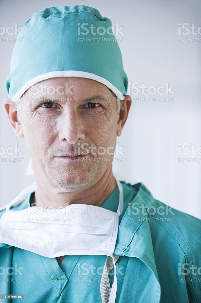 close up of doctor's face royalty-free stock photo