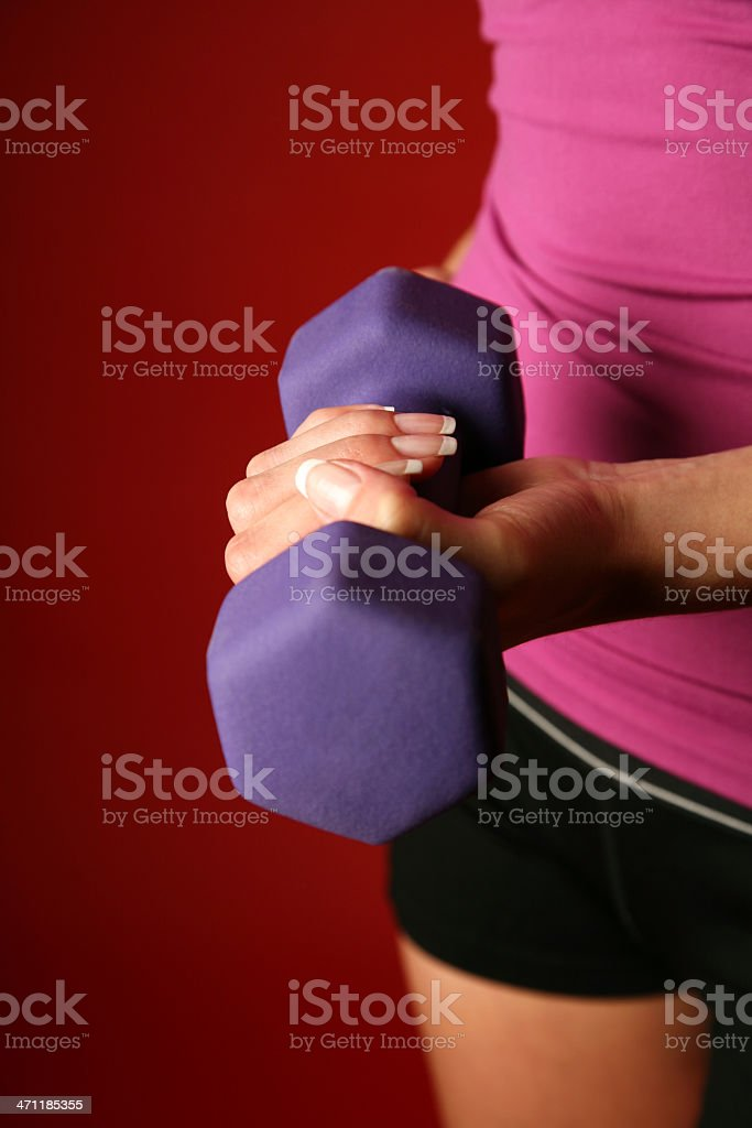 Close up of Dumbbell during Weight Training at Gym royalty-free stock photo