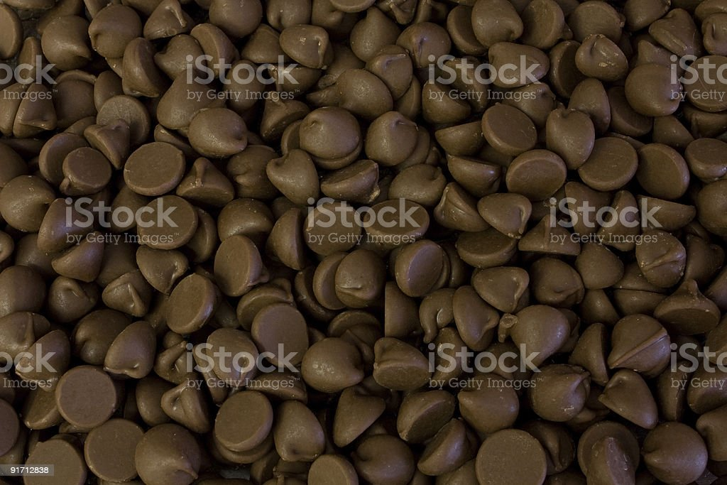 Close up of endless chocolate chips stock photo