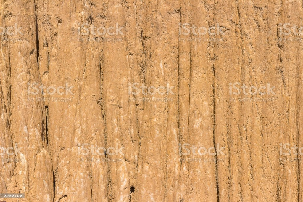 Close Up of eroded sandstone pillars or columns and cliffs at Sao Din Na Noi, sri nan national park,Nan province,Thailand stock photo