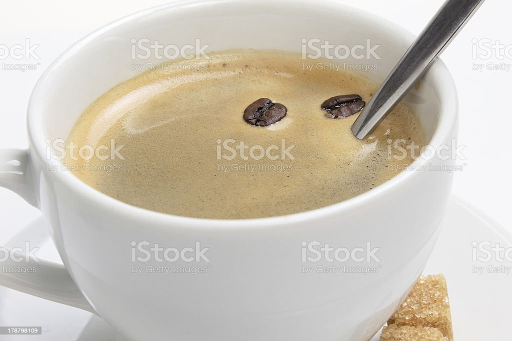 close up of espresso cup with crema royalty-free stock photo