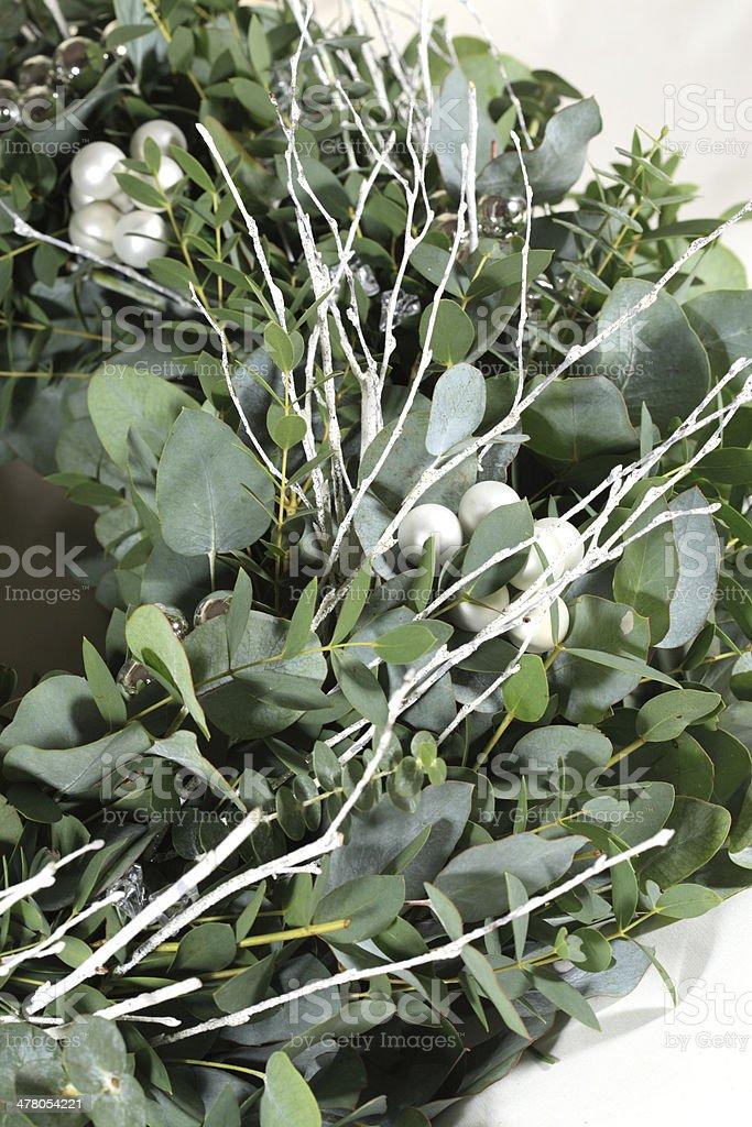 Close up of eucalyptus wreath royalty-free stock photo